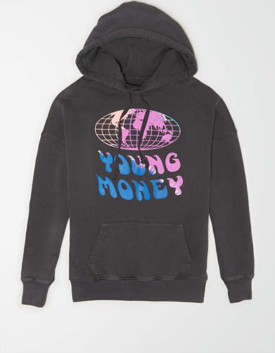 AE X Young Money Graphic Drop-Shoulder Hoodie