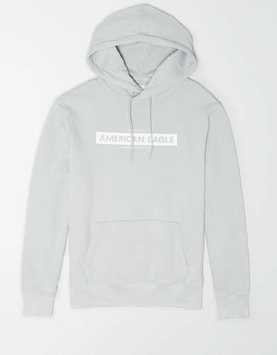 AE Garment-Dyed Graphic Fleece Hoodie