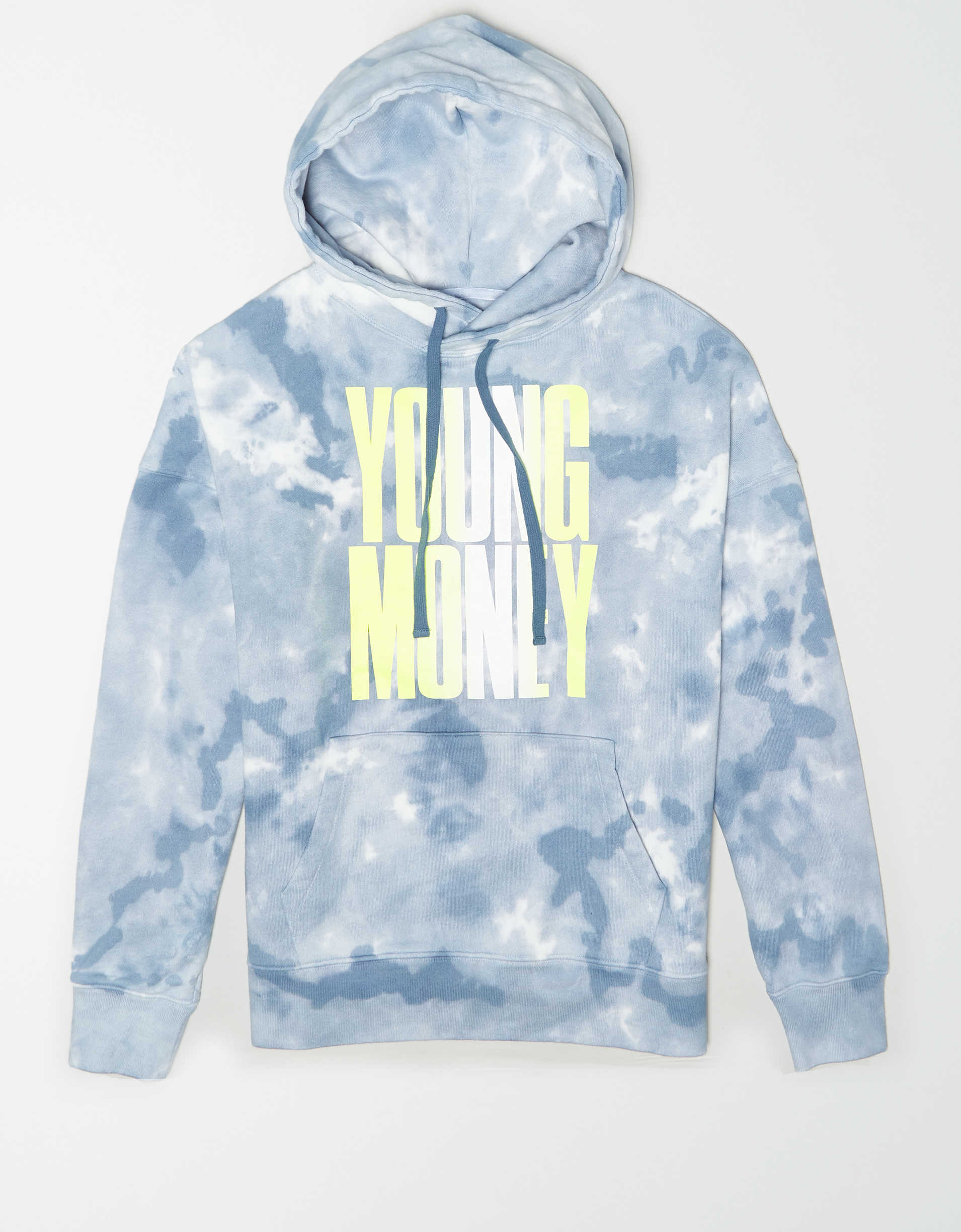 AE X Young Money Drop-Shoulder Tie-Dye Hoodie