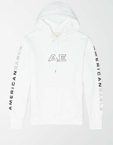 AE Acid-Washed Graphic Hoodie