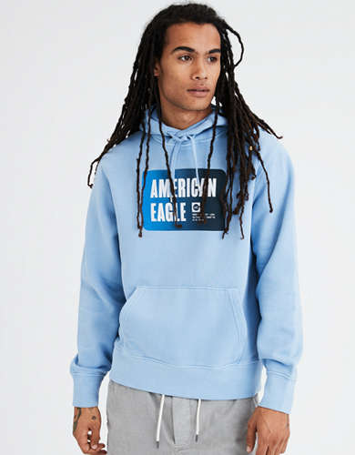 AE Beach Fleece Graphic Pullover Hoodie