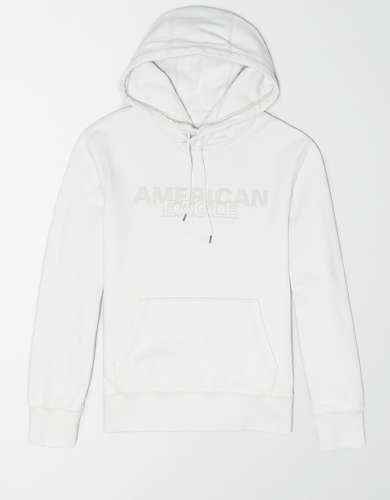 AE Heathered Graphic Pullover Hoodie