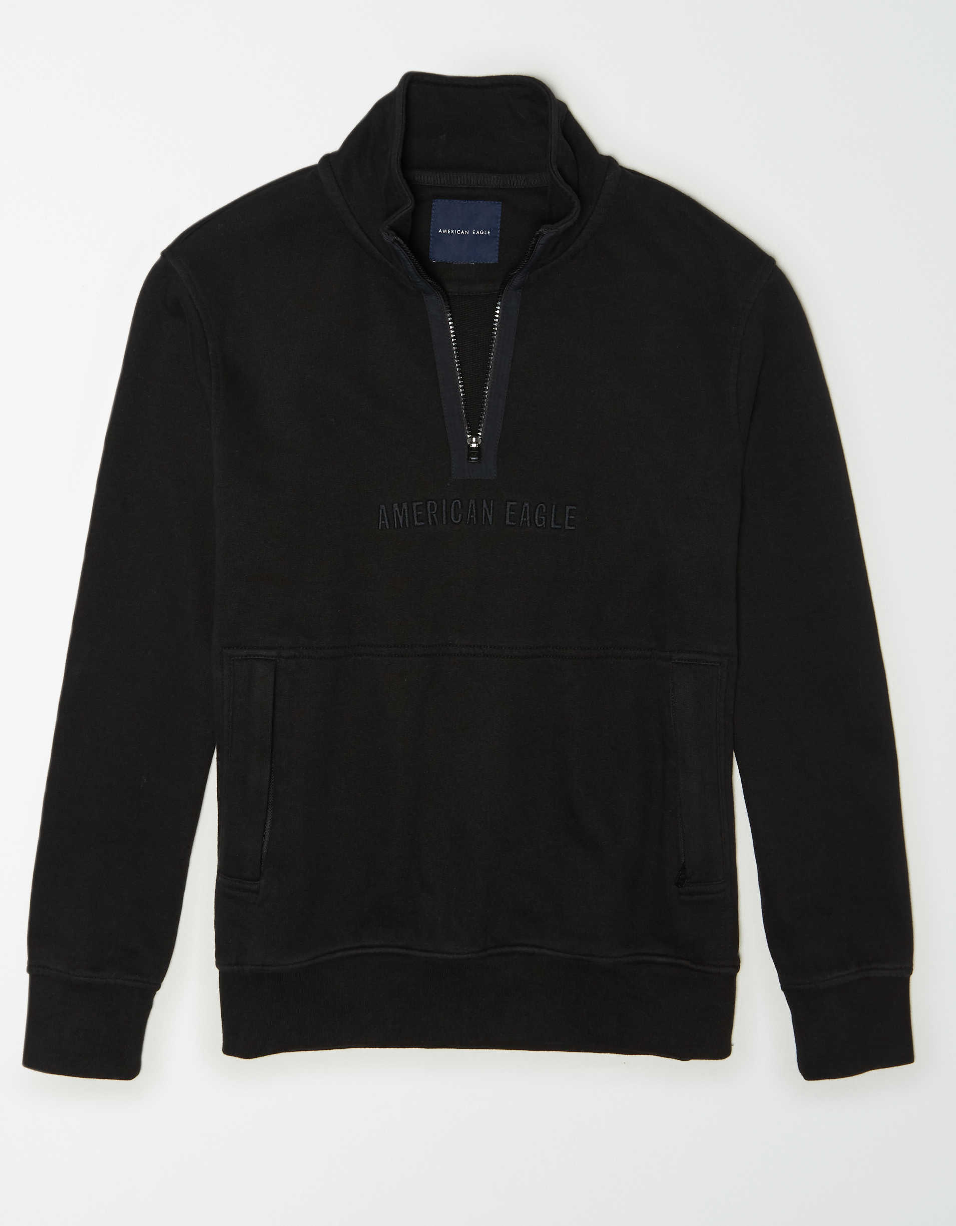 AE Fleece Graphic Quarter-Zip Pullover Sweatshirt