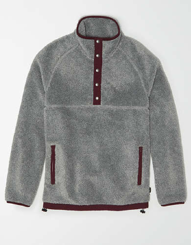 AE Sherpa Mock Neck Pullover