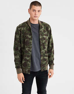 Ae Camo Fleece Jacket by American Eagle Outfitters