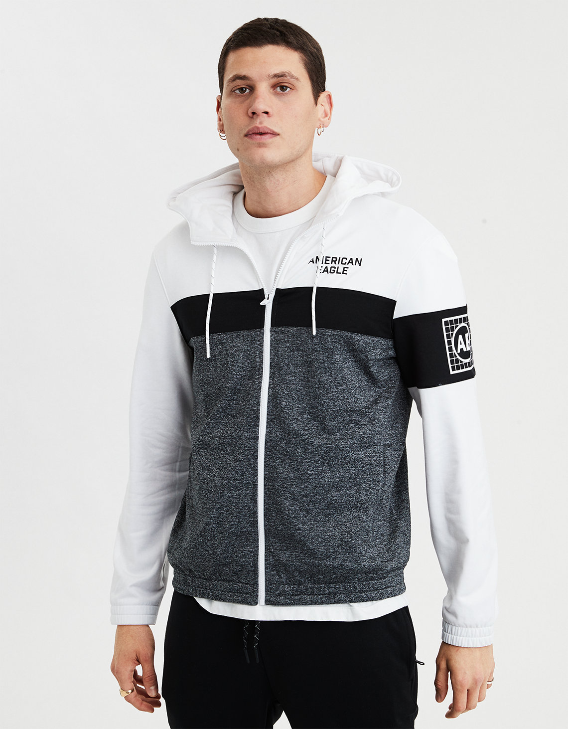 8c594d909720f1 AE Color Block Zip-Up Hoodie. Placeholder image. Product Image
