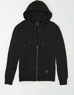 AE Cotton Slub Zip-Up Hoodie