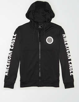 AE Reflective Graphic Zip-Up Hoodie
