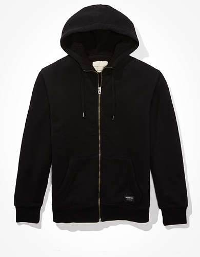 AE Cozy Sherpa Lined Fleece Zip-Up Hoodie
