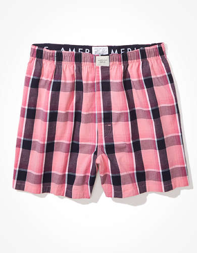 AEO Plaid Ultra Soft Boxer Short