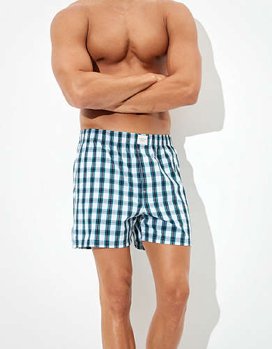 AEO Plaid Stretch Boxer Short
