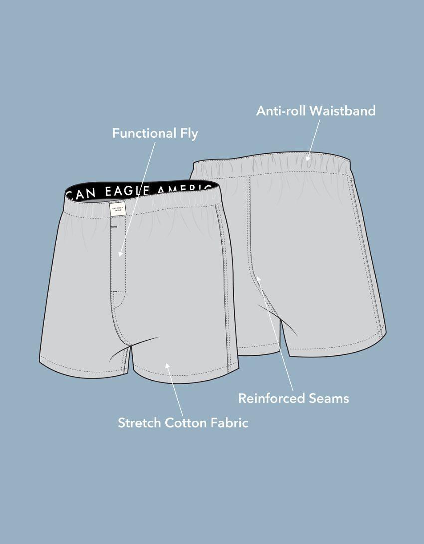 AEO Plaid Patchwork Stretch Boxer Short