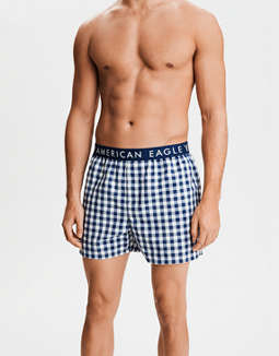 AEO Plaid Poplin Boxer