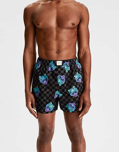 AEO Tiger Check Stretch Boxer Short