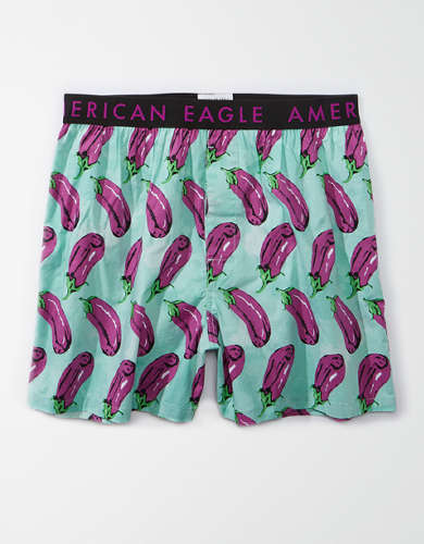 AEO Eggplant Art Stretch Boxer Short