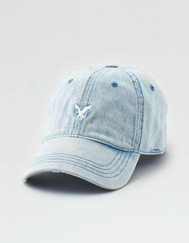 AE Washed Denim Strapback Hat