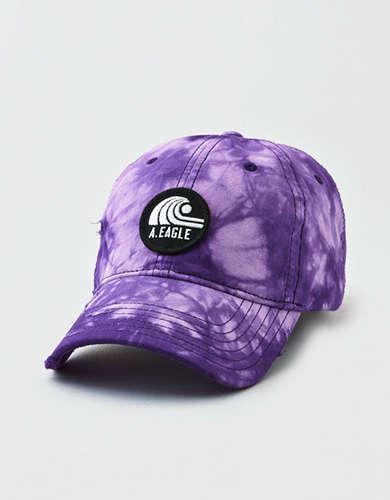 AE Purple Wave Patch Strapback Hat