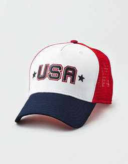 aeo-usa-trucker-hat by american-eagle-outfitters 442112cdb8bc