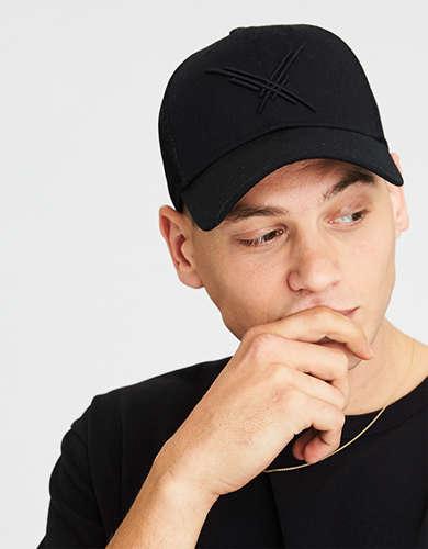 AE Black Trucker Hat