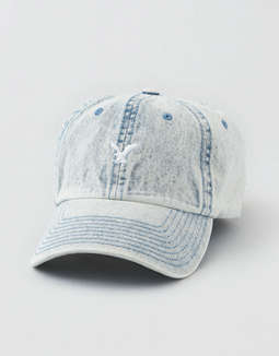 AE Washed Denim Logo Hat