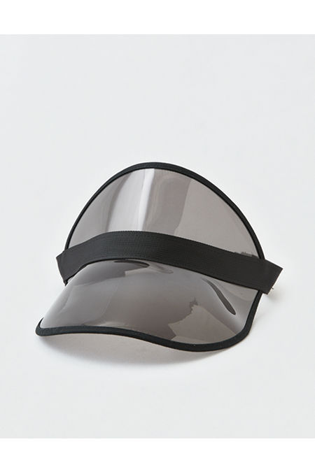 Hippie Hats,  70s Hats AEO Translucent Visor Mens Black One Size $7.18 AT vintagedancer.com
