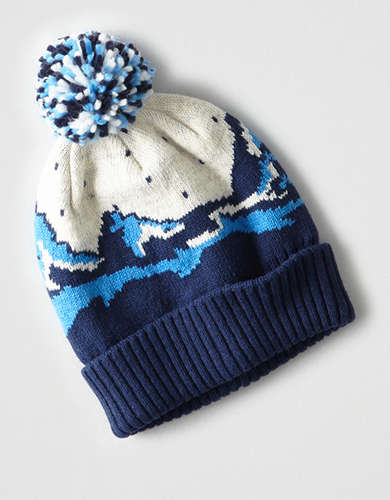 AEO Fairisle Mountain Pom Beanie -