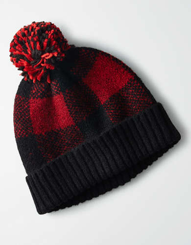 AEO Fairisle Buffalo Plaid Beanie -