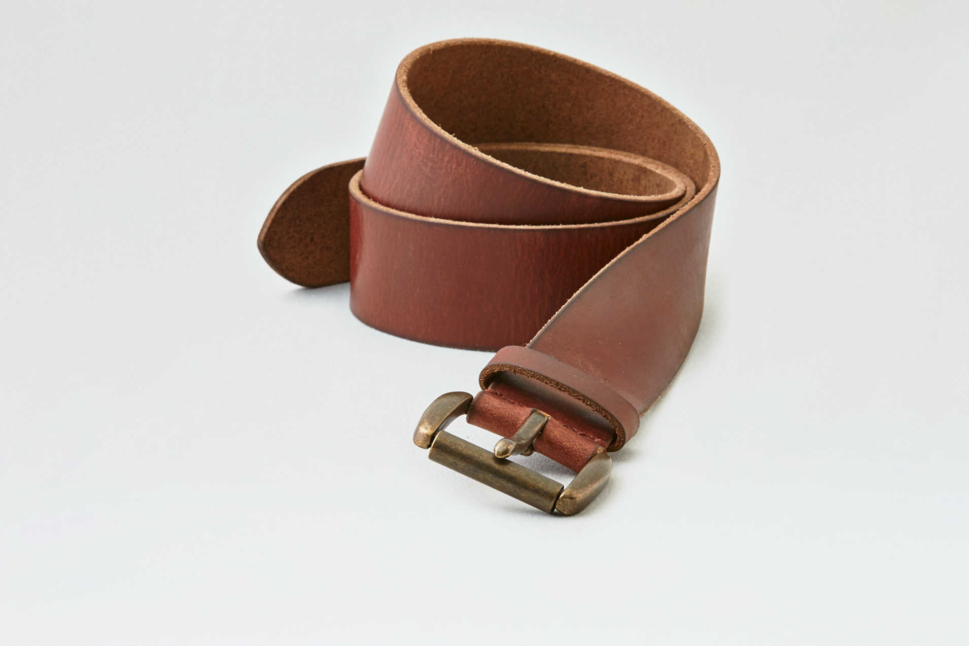AEO Wide Brown Leather Belt
