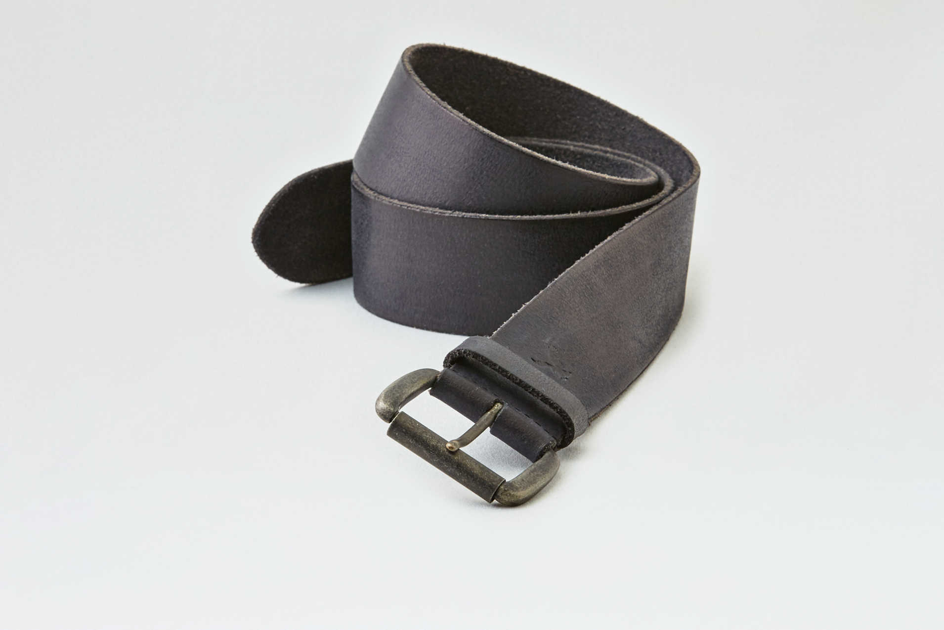 AEO Wide Black Leather Belt