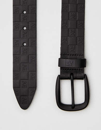 AEO Checkered Logo Belt