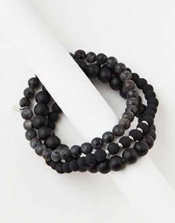 Aeo Black Bead Bracelet Set by American Eagle Outfitters