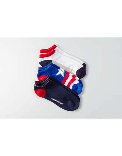 AEO Low Cut Americana Socks 3-Pack - Buy One Get One 50% Off