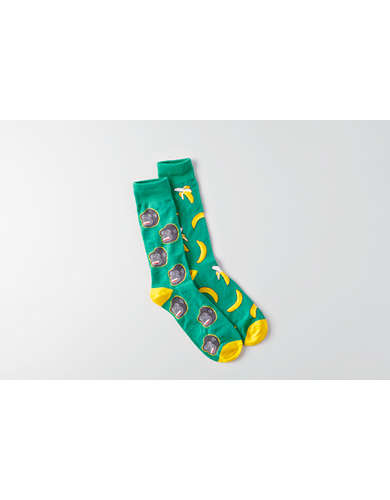AEO Monkey & Banana Crew Socks -
