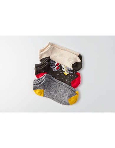 AEO Low Cut Monkey Socks 3-Pack -