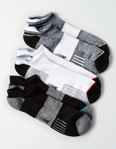 AEO Monochrome Performance Socks 3-Pack - Buy One, Get One 50% Off