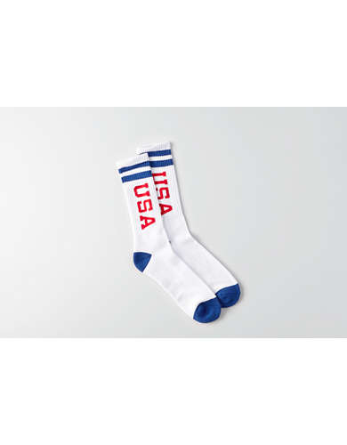 AEO USA Crew Socks -