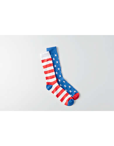 AE USA Flag Crew Socks -