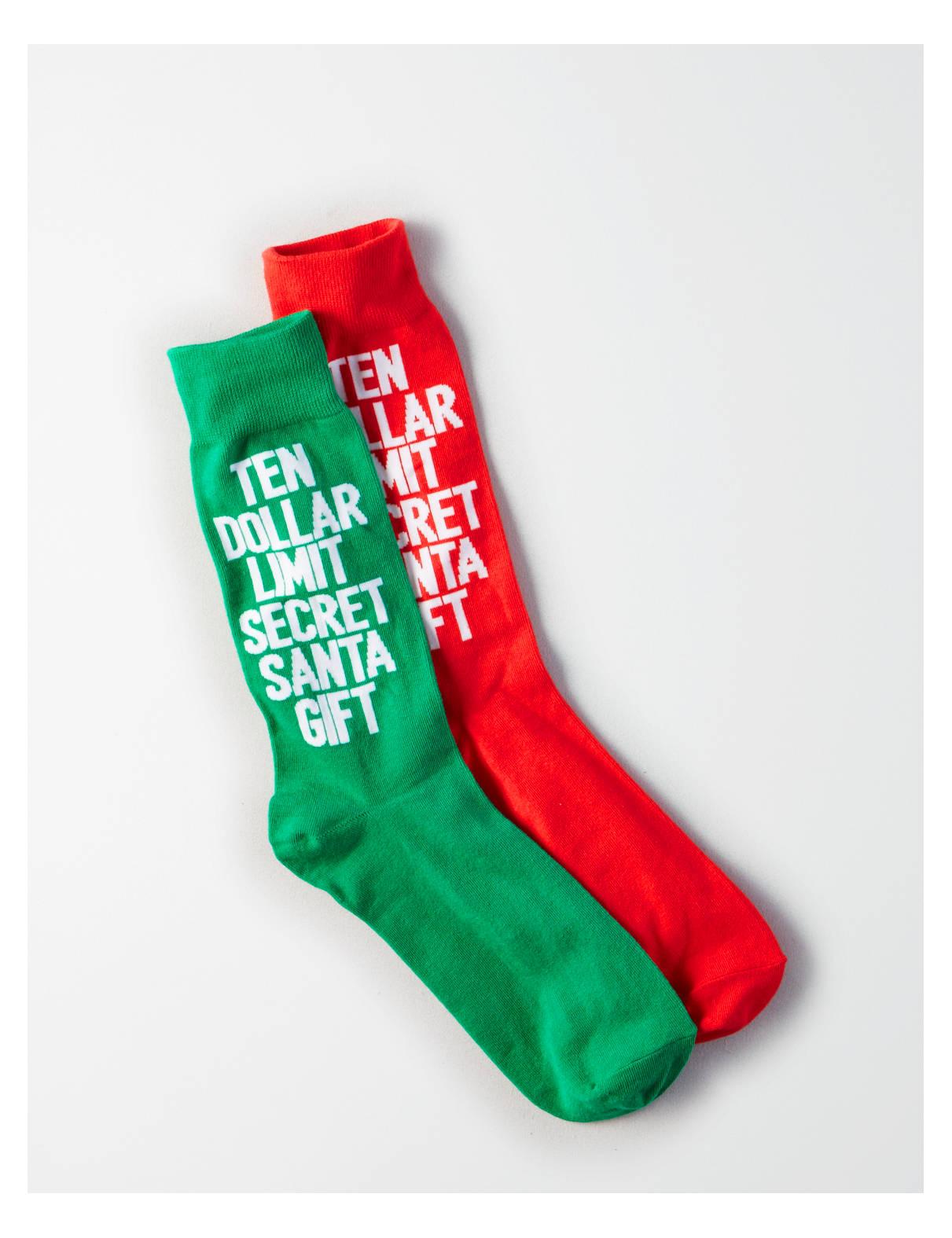 Display product reviews for AE Secret Santa Crew Socks