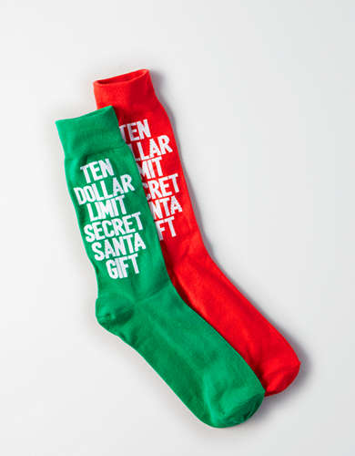 AE Secret Santa Crew Socks -
