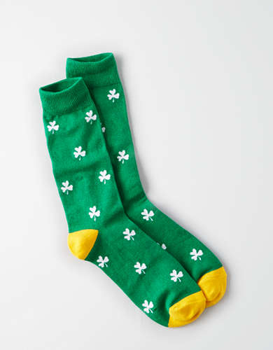 AE Fun Socks - Green Shamrocks -