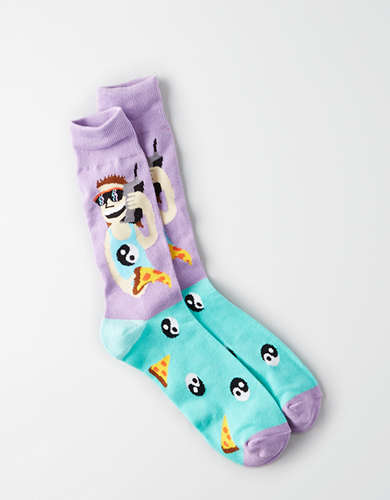 AEO Graphic Crew Socks -