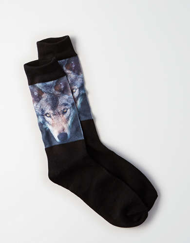 AEO Wolf Crew Sock - Buy One, Get One 50% Off