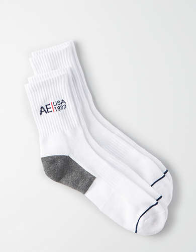 AEO Logo Mid Socks 2-Pack - Buy One Get One 50% Off