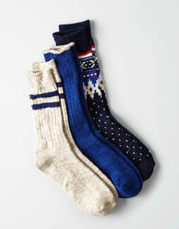 Aeo Boot Sock 3 Pack by American Eagle Outfitters