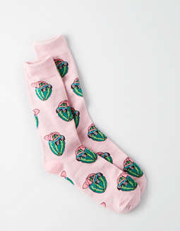 AEO Watermelon Crew Socks