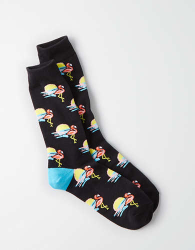 AEO Flamingo Crew Socks -