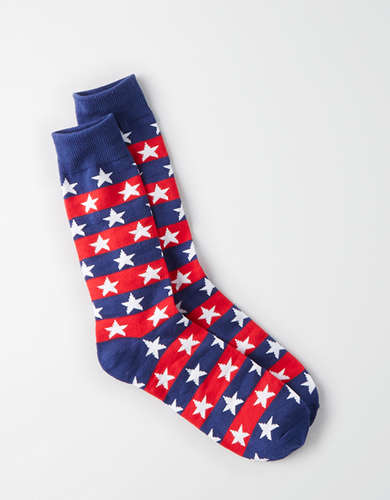 AEO Stars and Stripes Crew Socks - Buy One Get One 50% Off