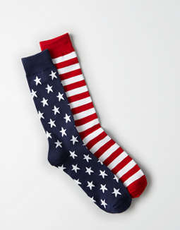 AEO Flag Crew Socks