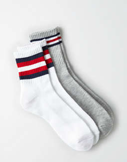 AEO USA Crew Socks 2-Pack