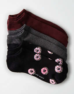 AEO Donuts Low Cut Socks 3-Pack